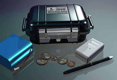 3D product design of a Pelican Case and Enduro GPS unit