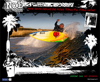 A custom website design for Noe Surfboards in Santa Cruz. www.noeboards.com