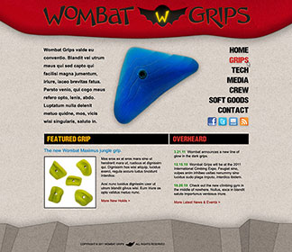 A custom eCommerce Wordpress website for Wombat Grips