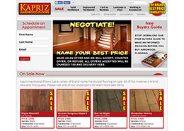 Wordpress Site for Kapriz Hardwood Floors.
