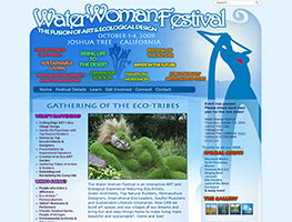 A custom Wordpress Website for the Water Woman Festival